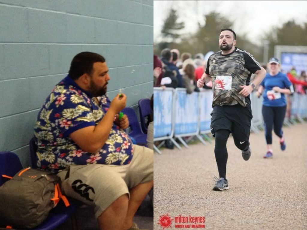 Gareth Yeoman, 31, lost 10 stone in 18 months and is now getting ready for the Newport Marathon