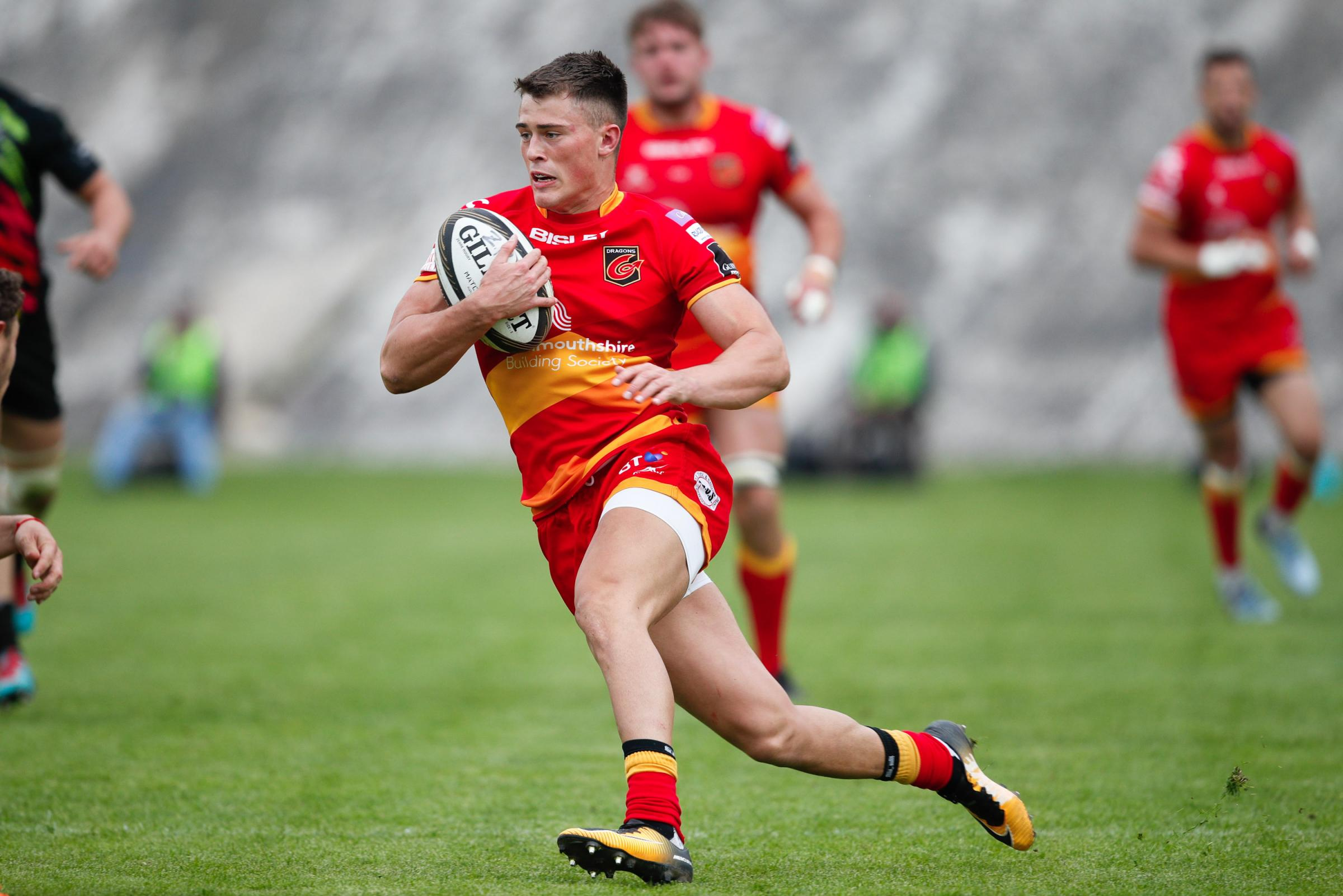 WALES CALL: Jared Rosser and his Dragons teammate Will Talbot-Davies will play at the Rugby World Cup Sevens
