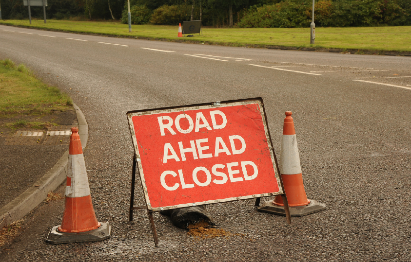 The A468 has been closed after a serious accident at Lower Machen