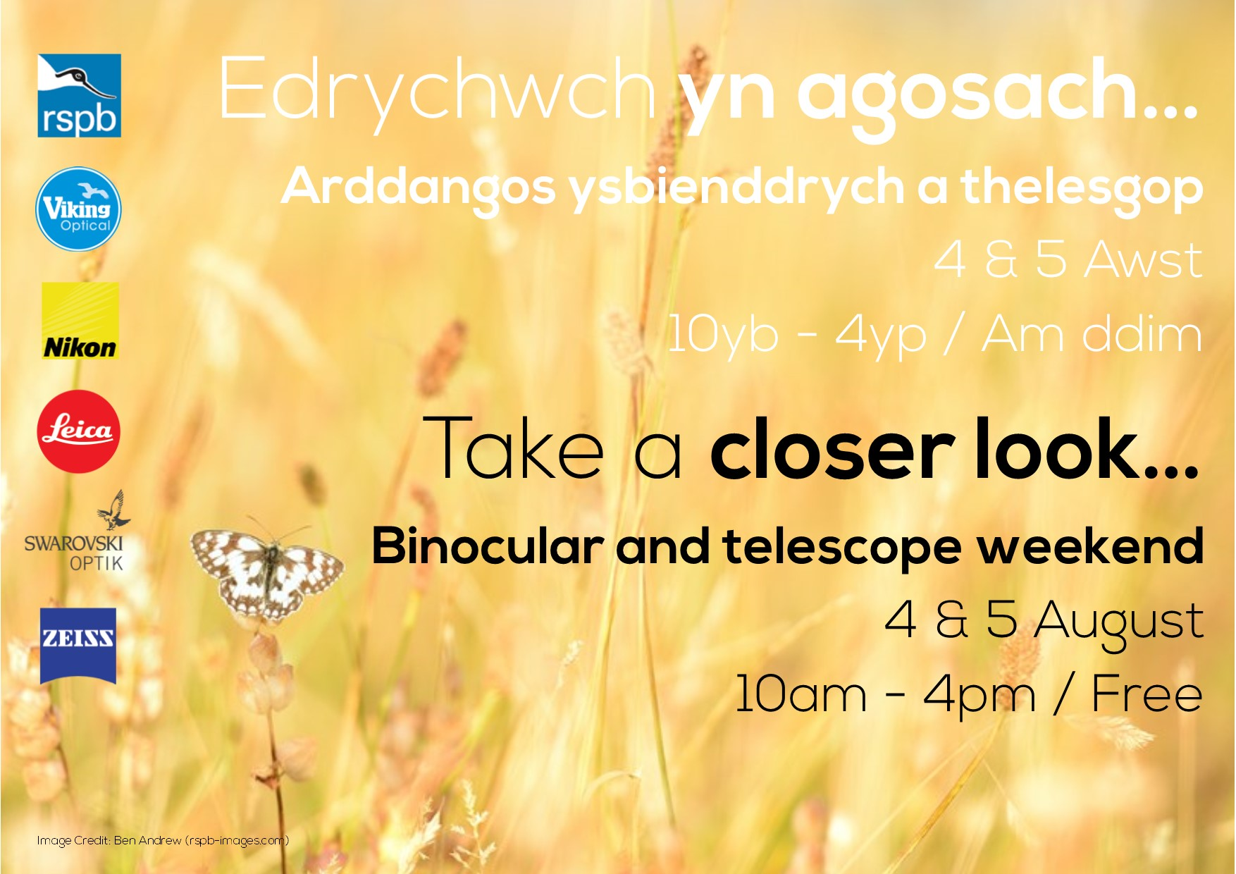 Take a closer look... Binocular and telescope weekend
