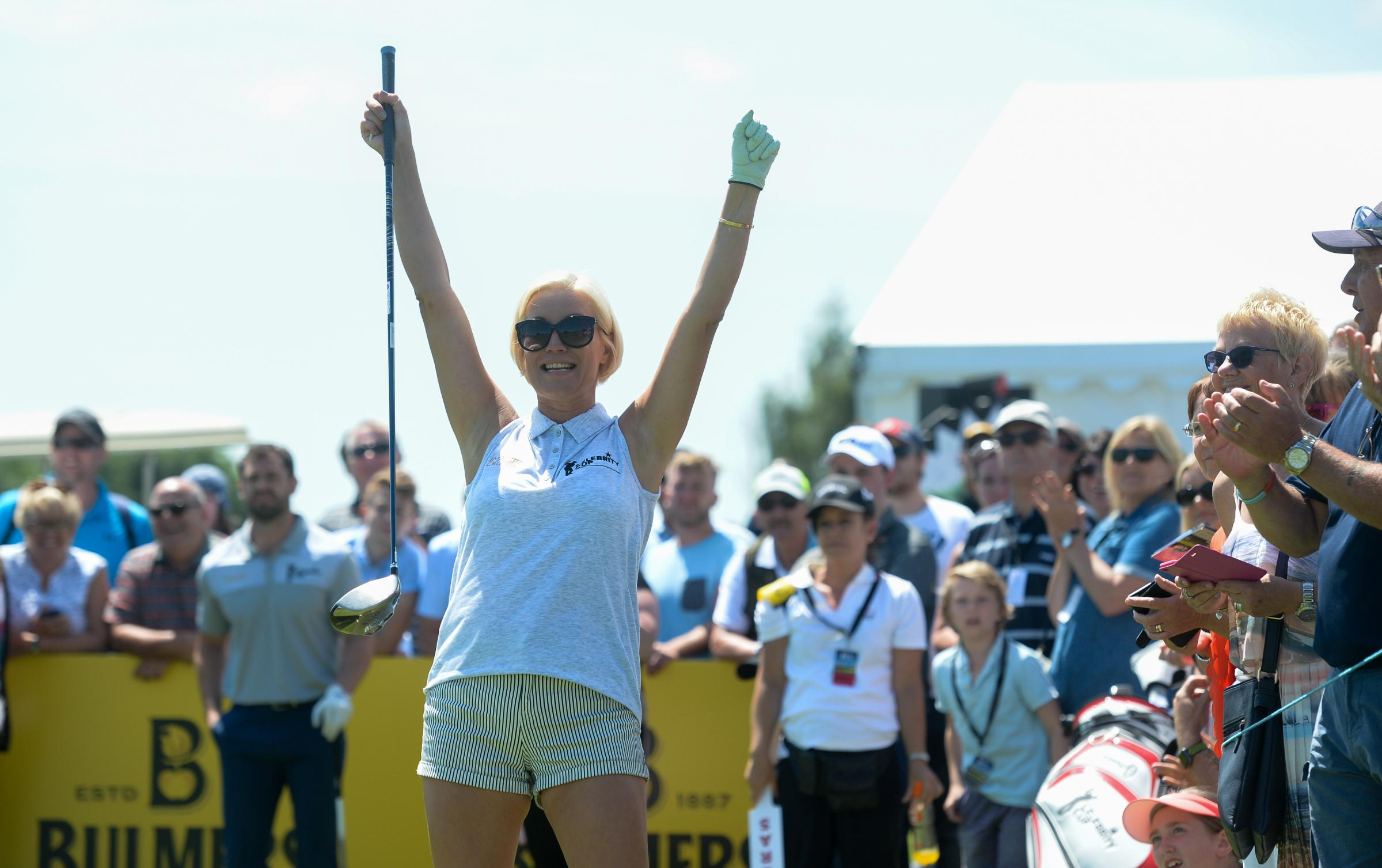 Denise Van Outen has signed up for the Celebrity Cup at the Celtic Manor this summer.