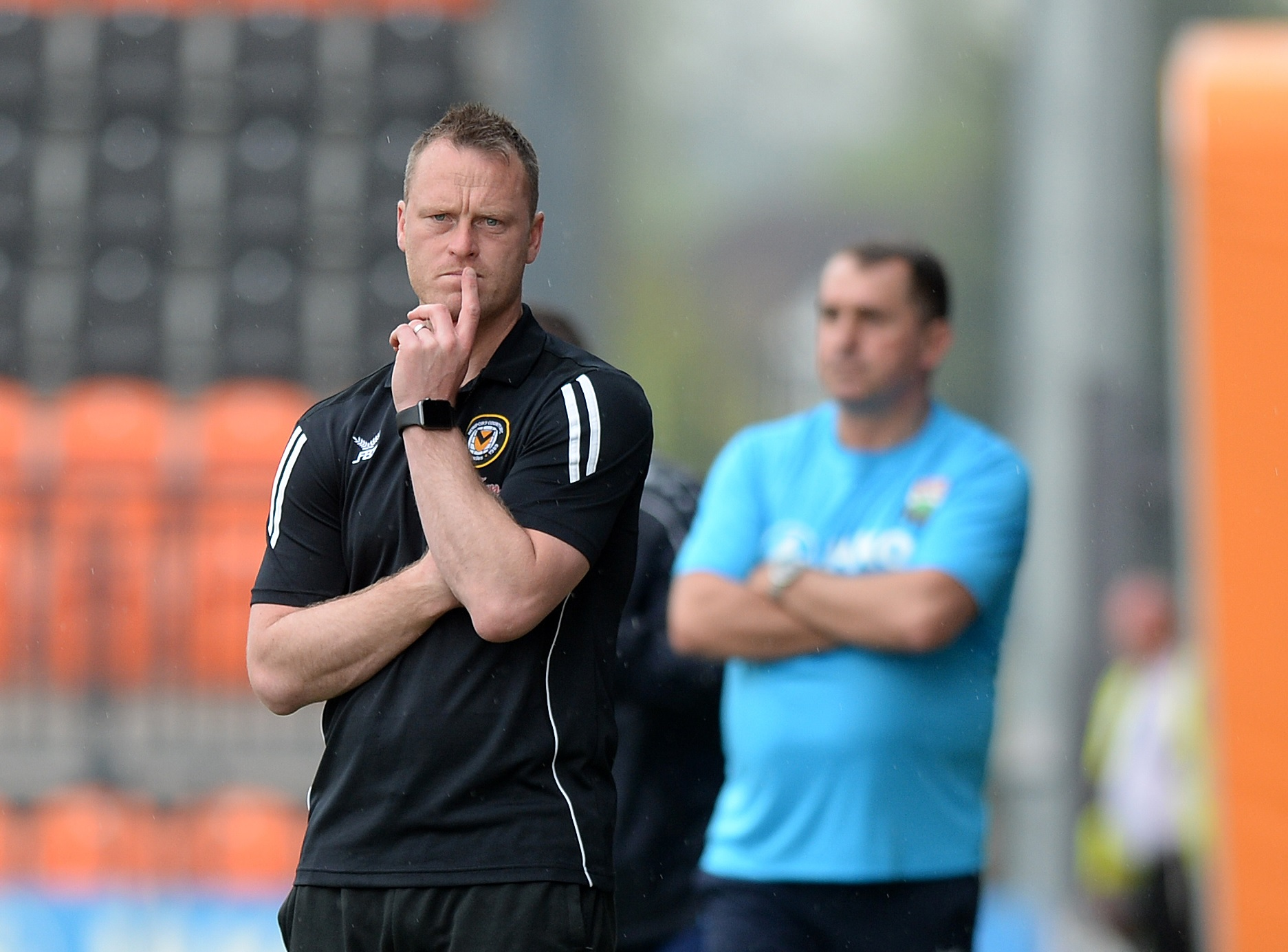 ANGRY: Newport County manager Michael Flynn was critical of his side's performance at Barnet. Picture: Huw Evans Agency