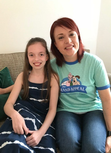 Treatment: Former Alfie's Angel Gillian Lewis is running the Newport Marathon to raise money for Bristol Children's Hospital who have been treating her 19-year-old niece, Evie Cooke, for the last ten years