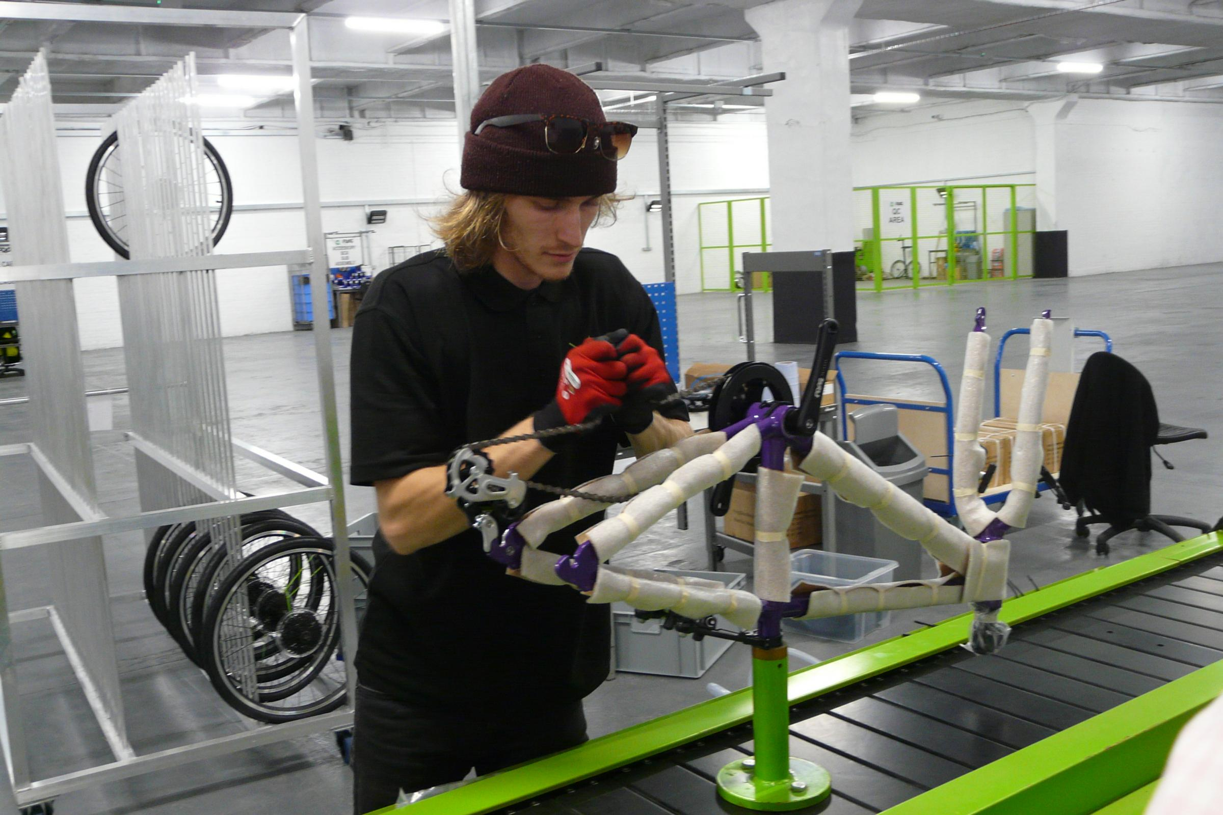 Frog Bikes' manufacturing facility at Mamhilad Park Estate, near Pontypool. Picture: DBPR
