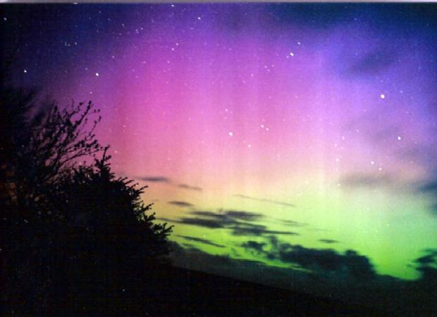 Northern lights could be seen from South Wales tonight