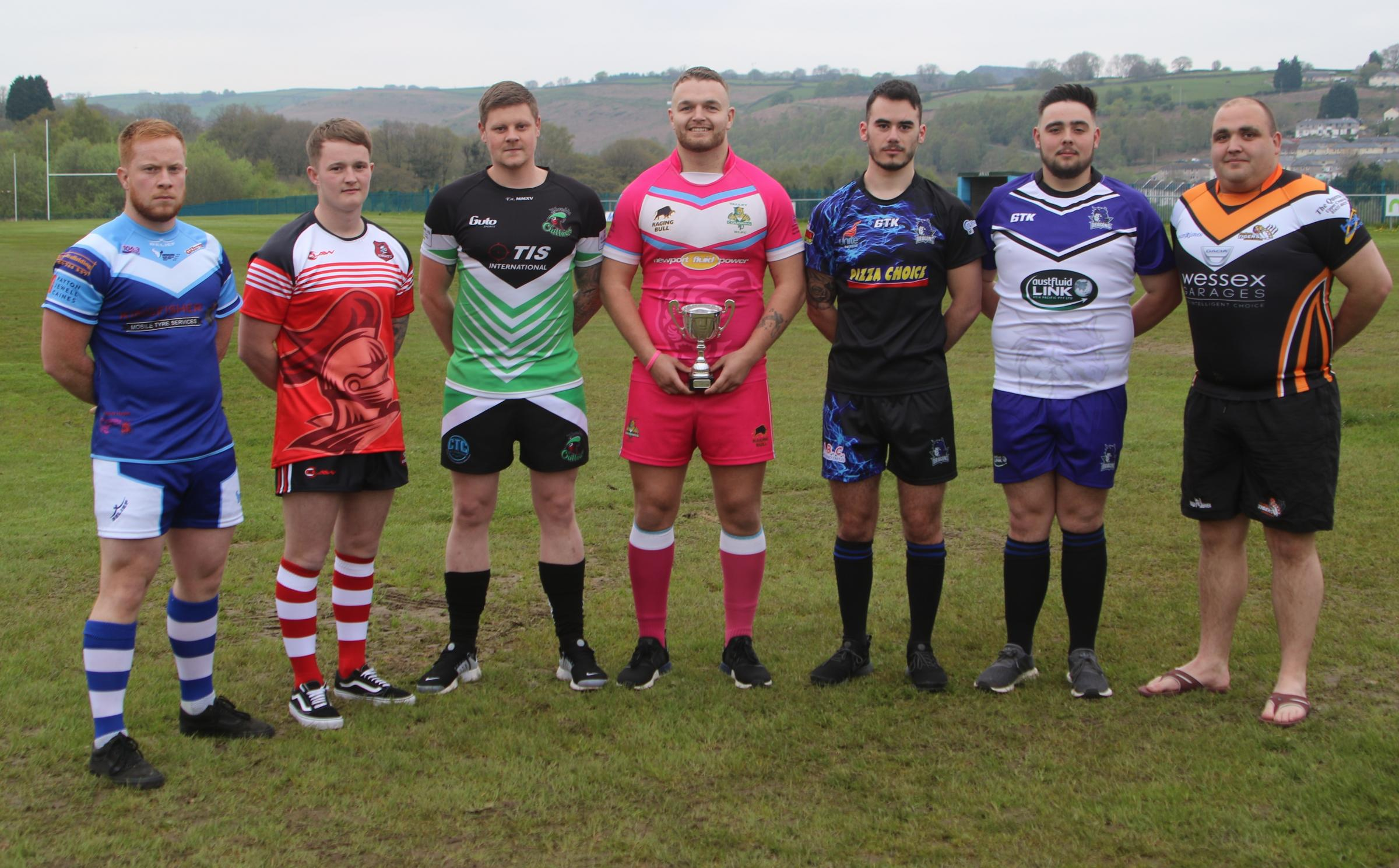 READY FOR BATTLE: Players from each of the Premier League teams gathered ahead of the new season. Picture: Ian Lovell