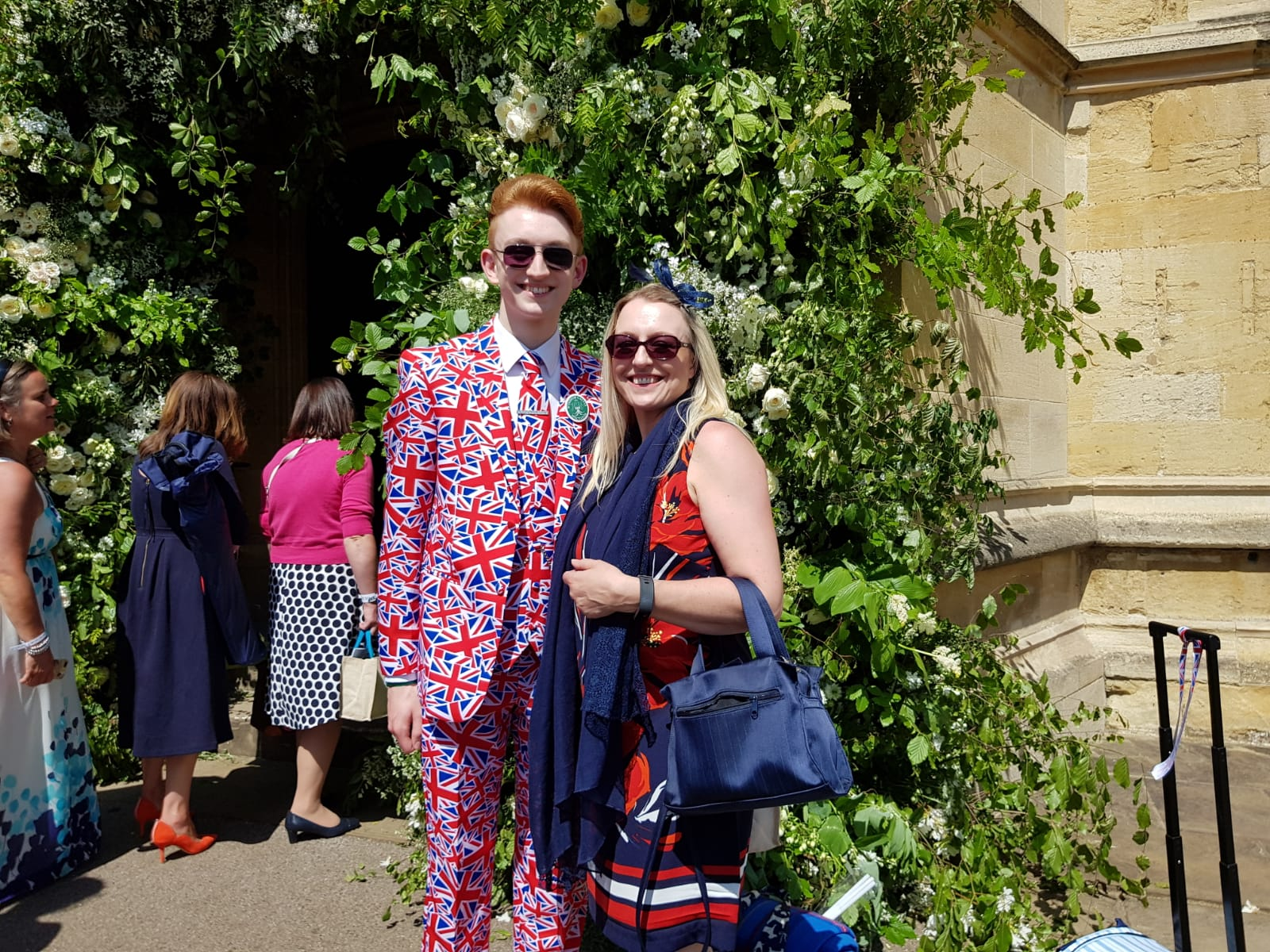 Alexander Willis and his mum Nicola were at the royal wedding