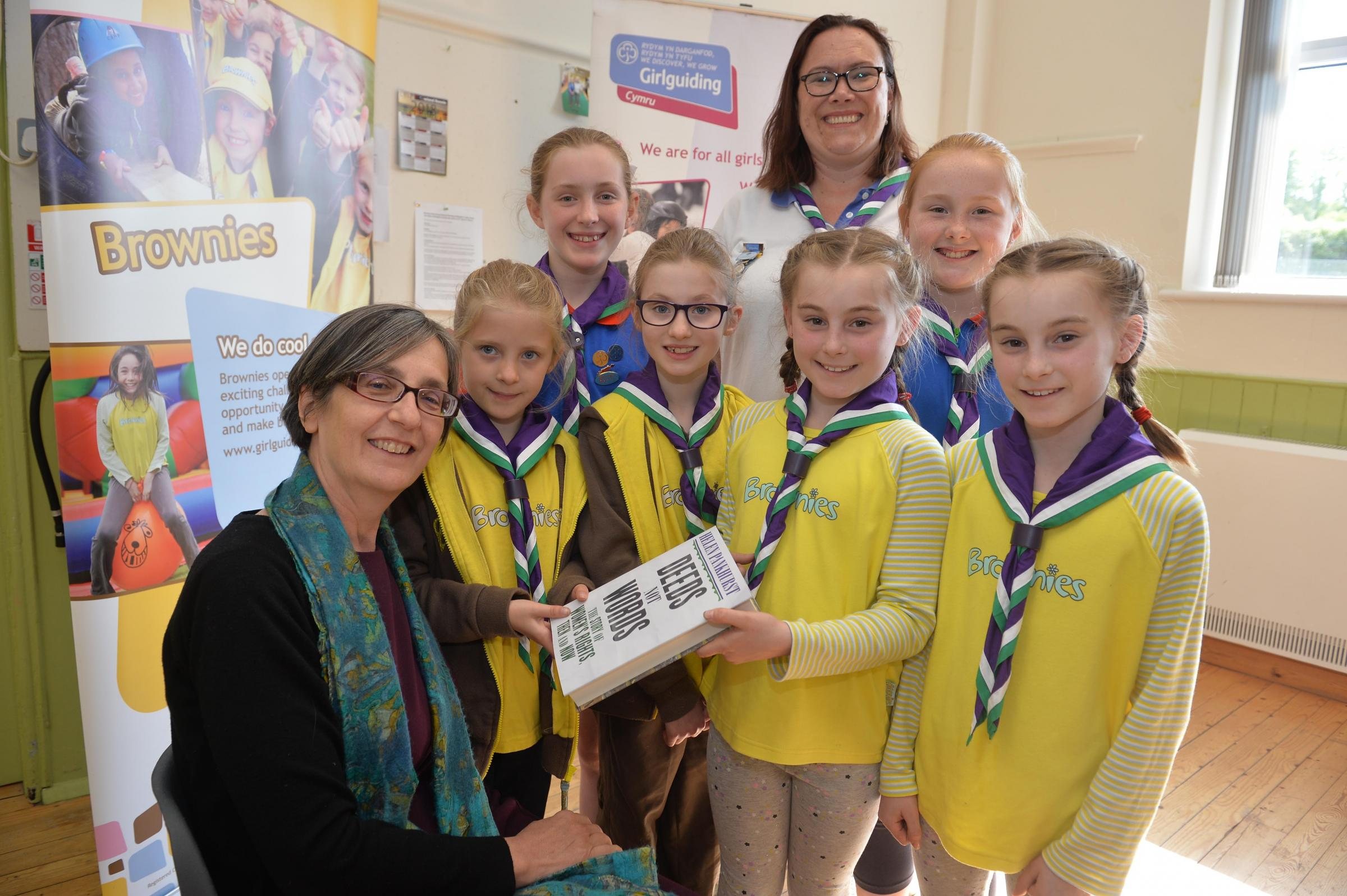 FUN: Dr Helen Pankhurst with brownies at Rhiwderin Community Centre. Picture: www.christinsleyphotography.co.uk