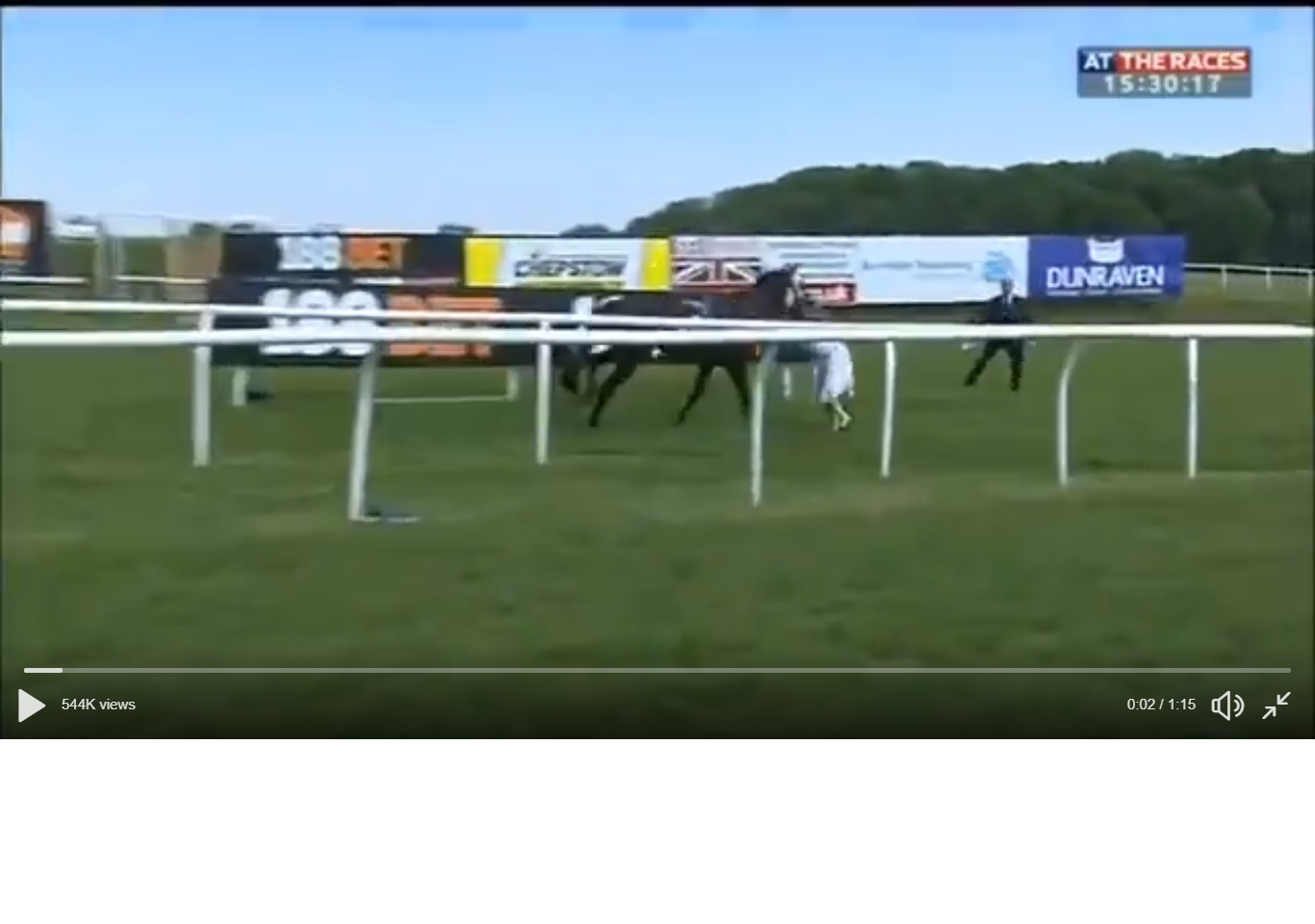 A screenshot of the video. Picture: At The Races