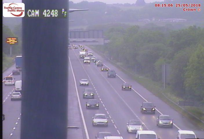 Traffic near junction 27