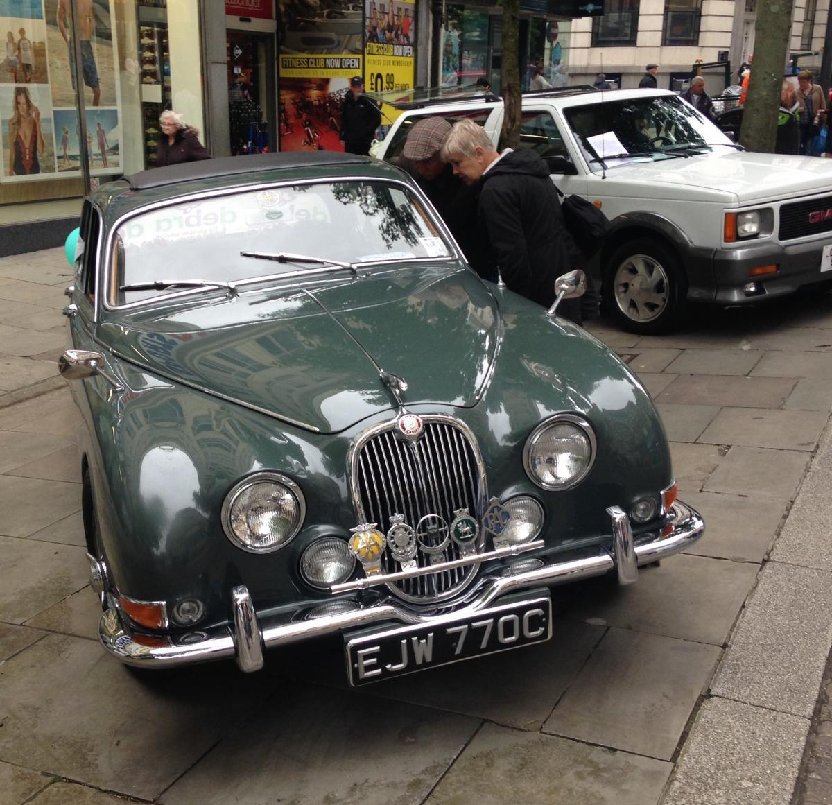 VINTAGE: A 1965 Jaguar 'S' Type at the car rally last year