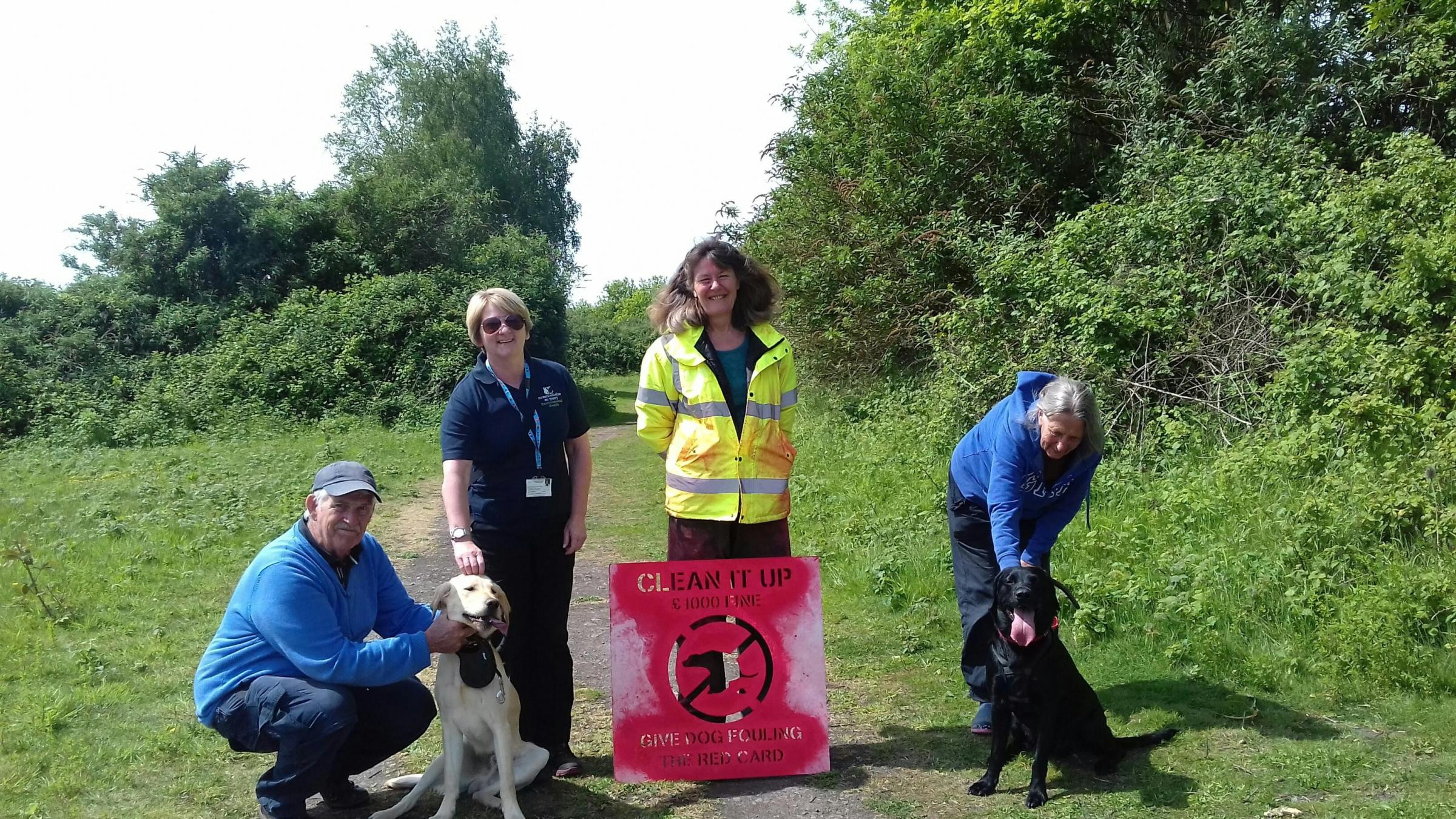 WORKING: Rogiet Countryside Park dog fouling awarness day
