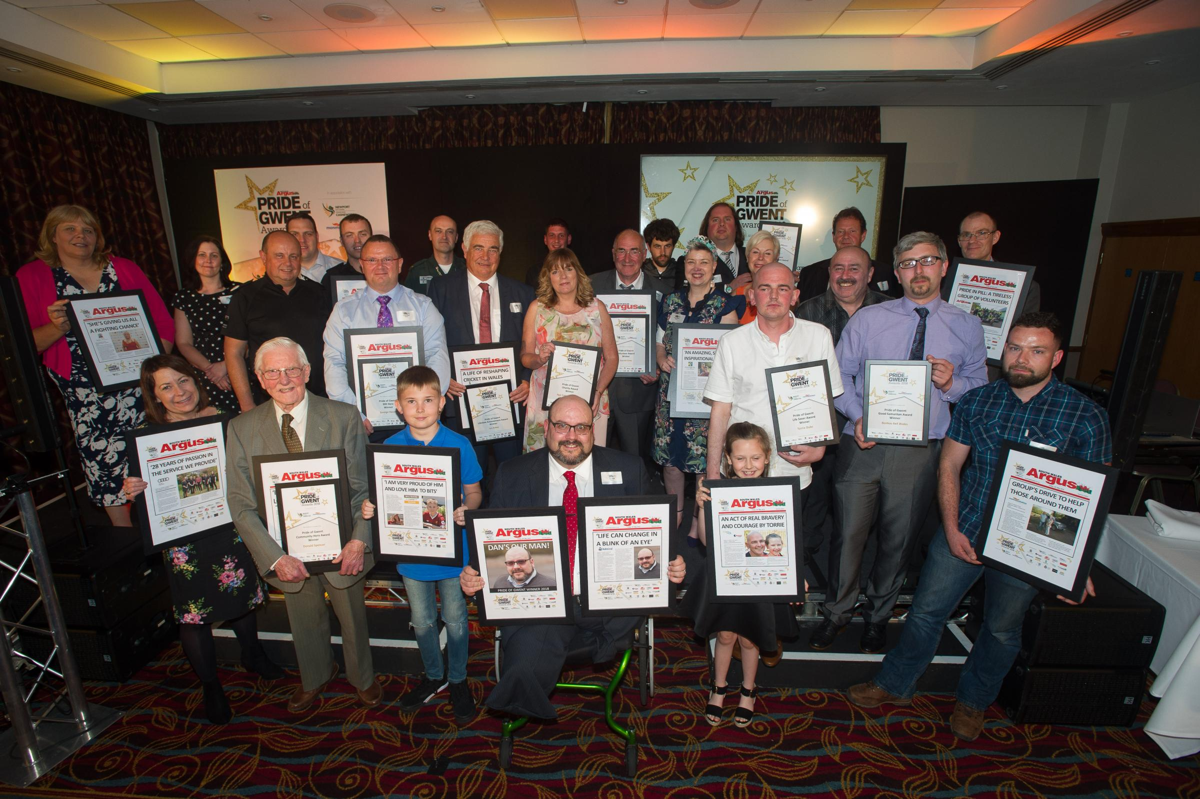 PROUD: Winners of the South Wales Argus Pride of Gwent Awards 2018 Picture: Mark Lewis
