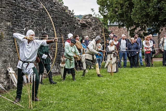 MEDIEVAL: Previous re-enactment scenes at Abergavenny Castle