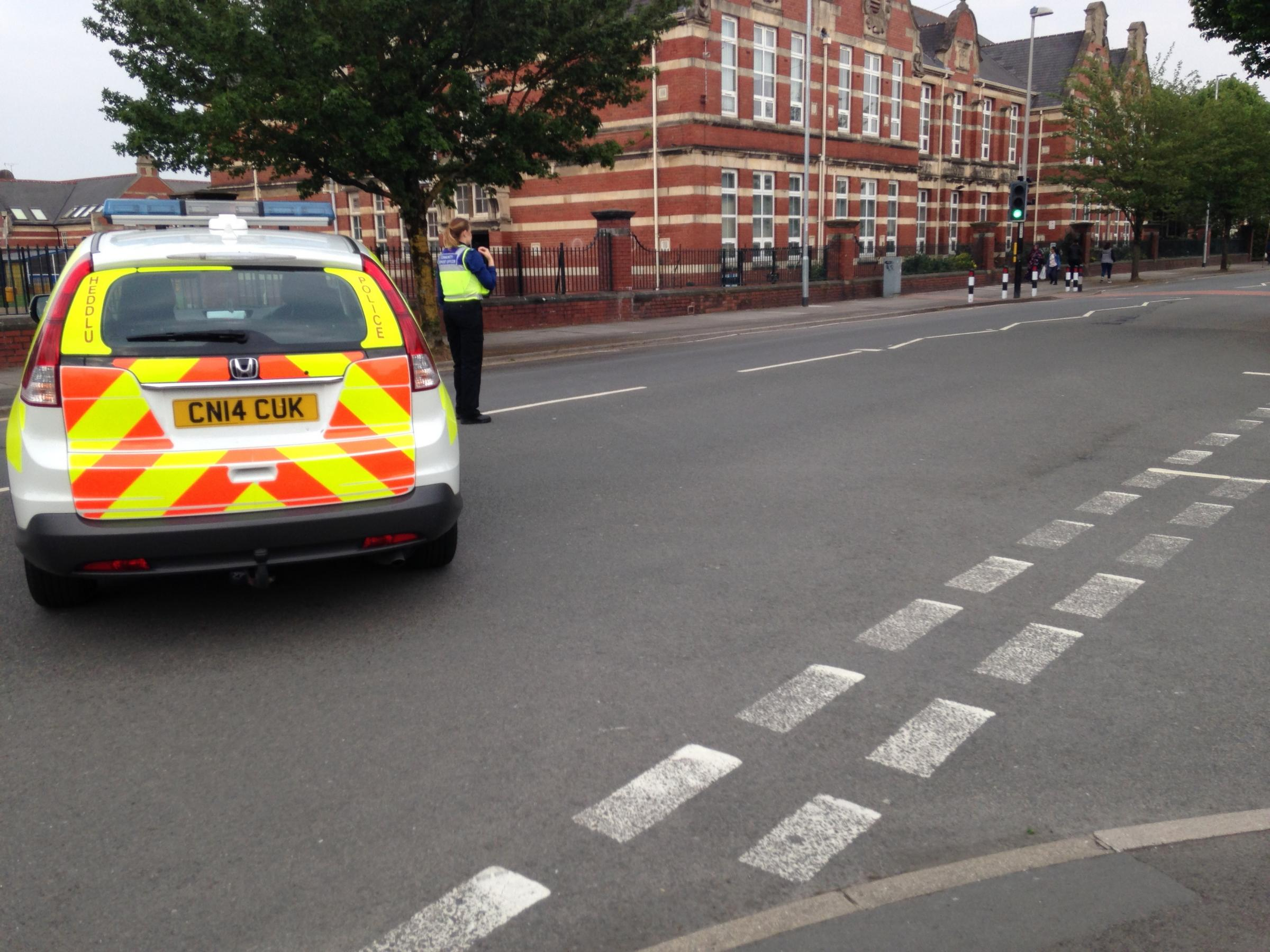 Gwent Police have closed a section of Corporation Road in Newport