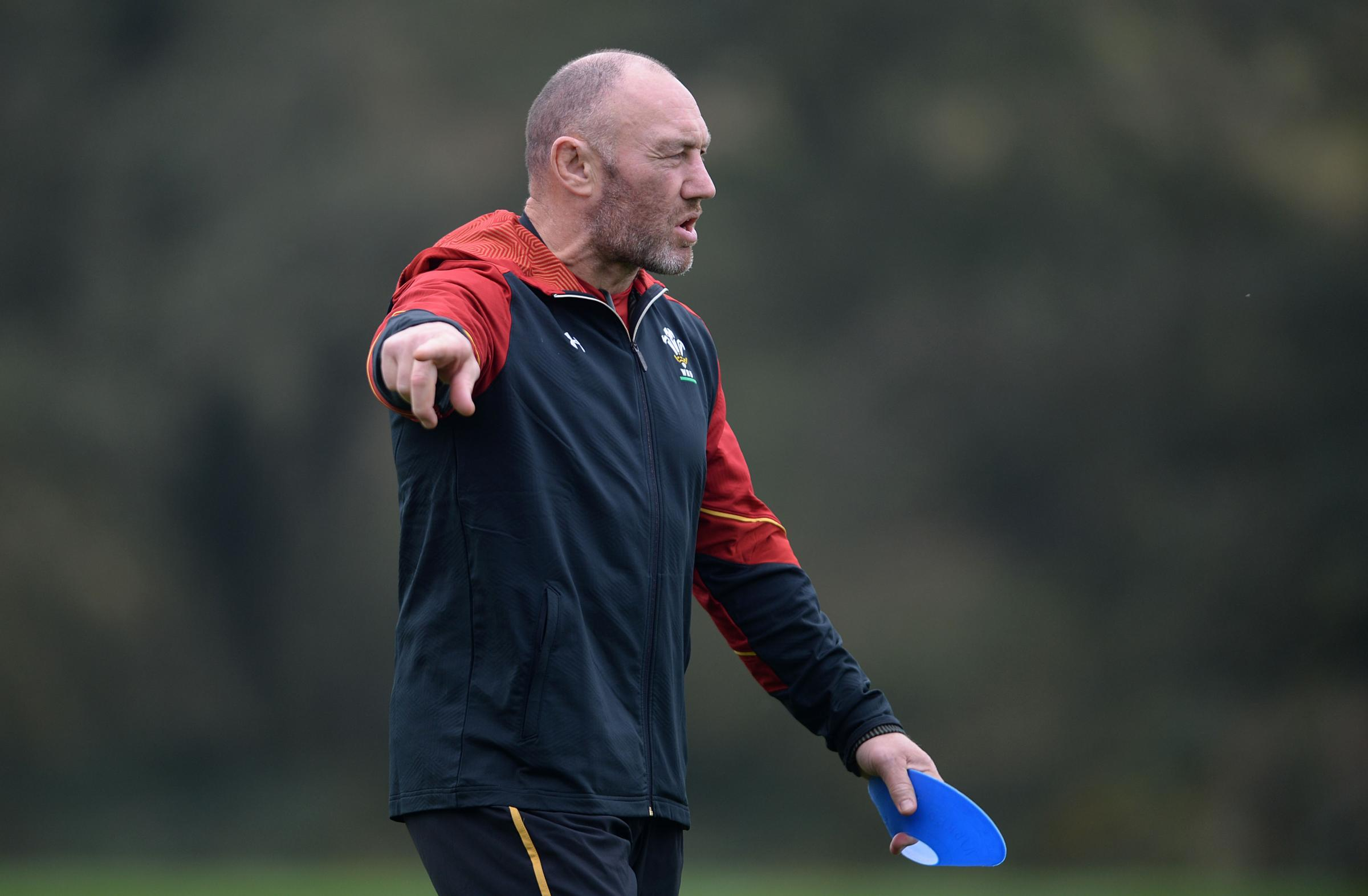 FINAL PUSH: Wales forwards coach Robin McBryde wants his charges to improve against Argentina
