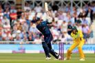 Alex Hales struck 147 as England posted a new world record total in the one-day international against Australia at Trent Bridge.