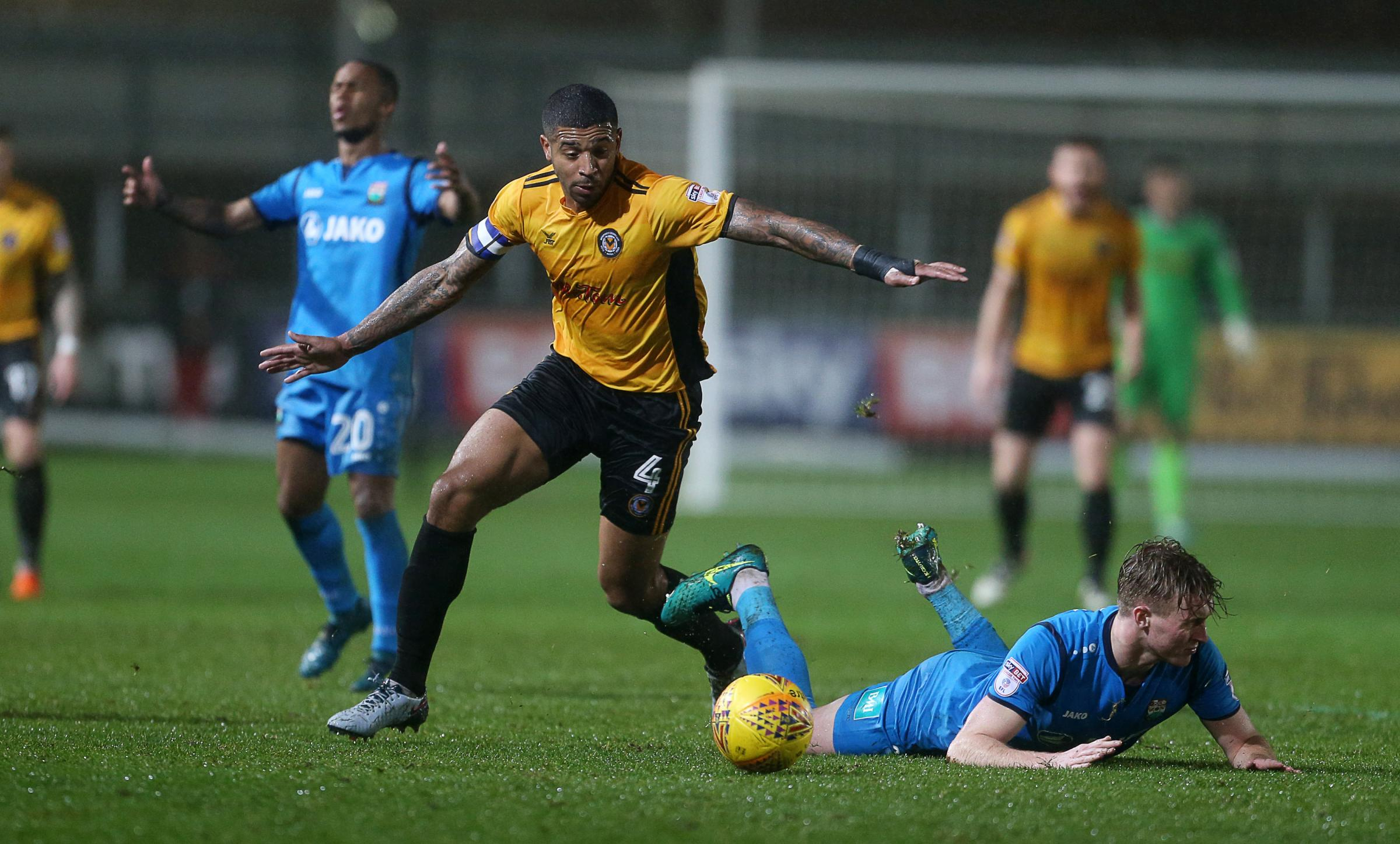 SKIPPER: Joss Labadie's Newport County contract has now expired