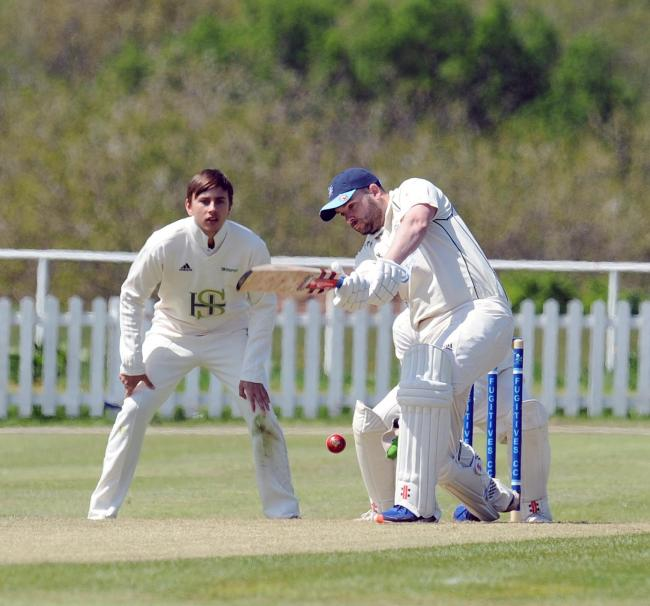 CONFIDENCE BOOST: Newport Fugitives skipper Nathan Millichip at the crease