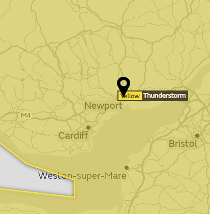 THUNDER: The Met Office have issued a yellow weather warning