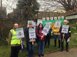 PROTEST: Teachers striking over issues at Chepstow Comprehensive School