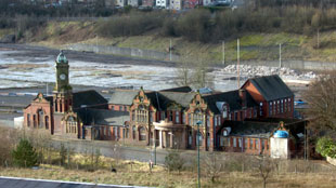 SITE: The steelworks general offices in Ebbw Vale