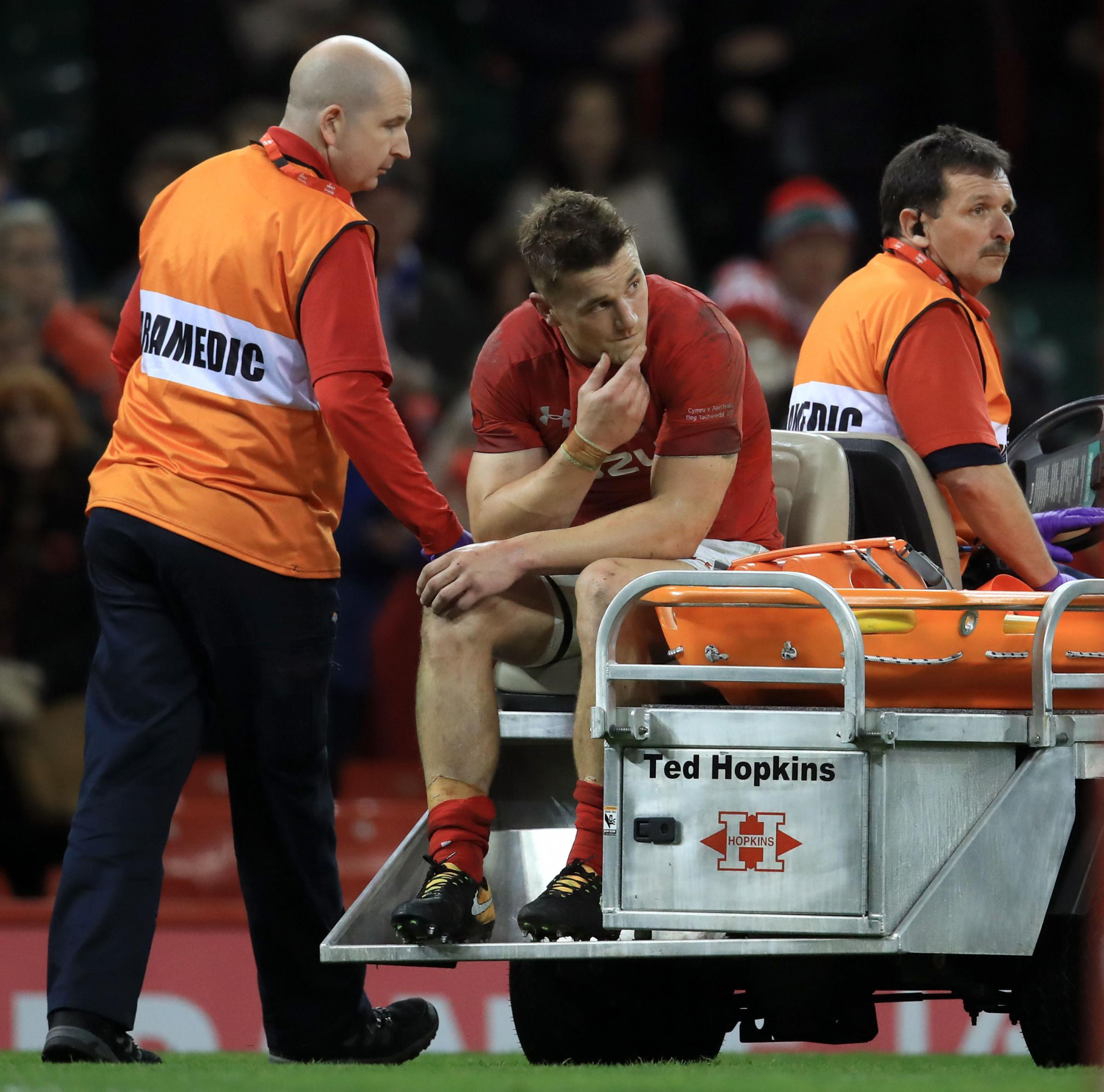 INJURY ANGST: Wales, Scarlets and Lions centre Jonathan Davies is close to a return after his foot injury suffered against Australia