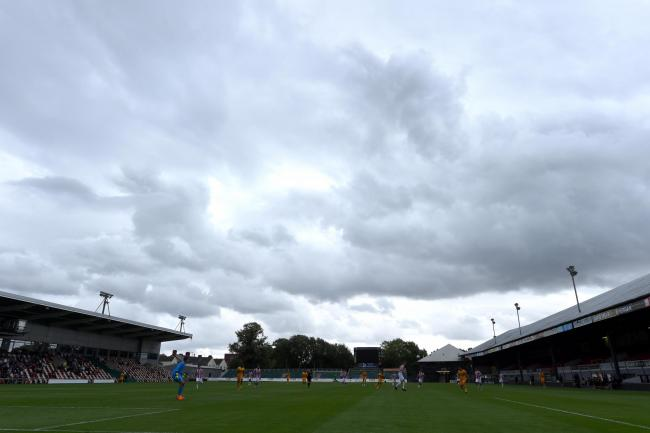 28.07.18 - Newport County v Stoke City Under 23s - Preseason Friendly -Storm clouds over Rodney Parade.