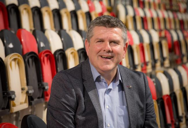 New Dragons managing director Mike Davies at Rodney Parade