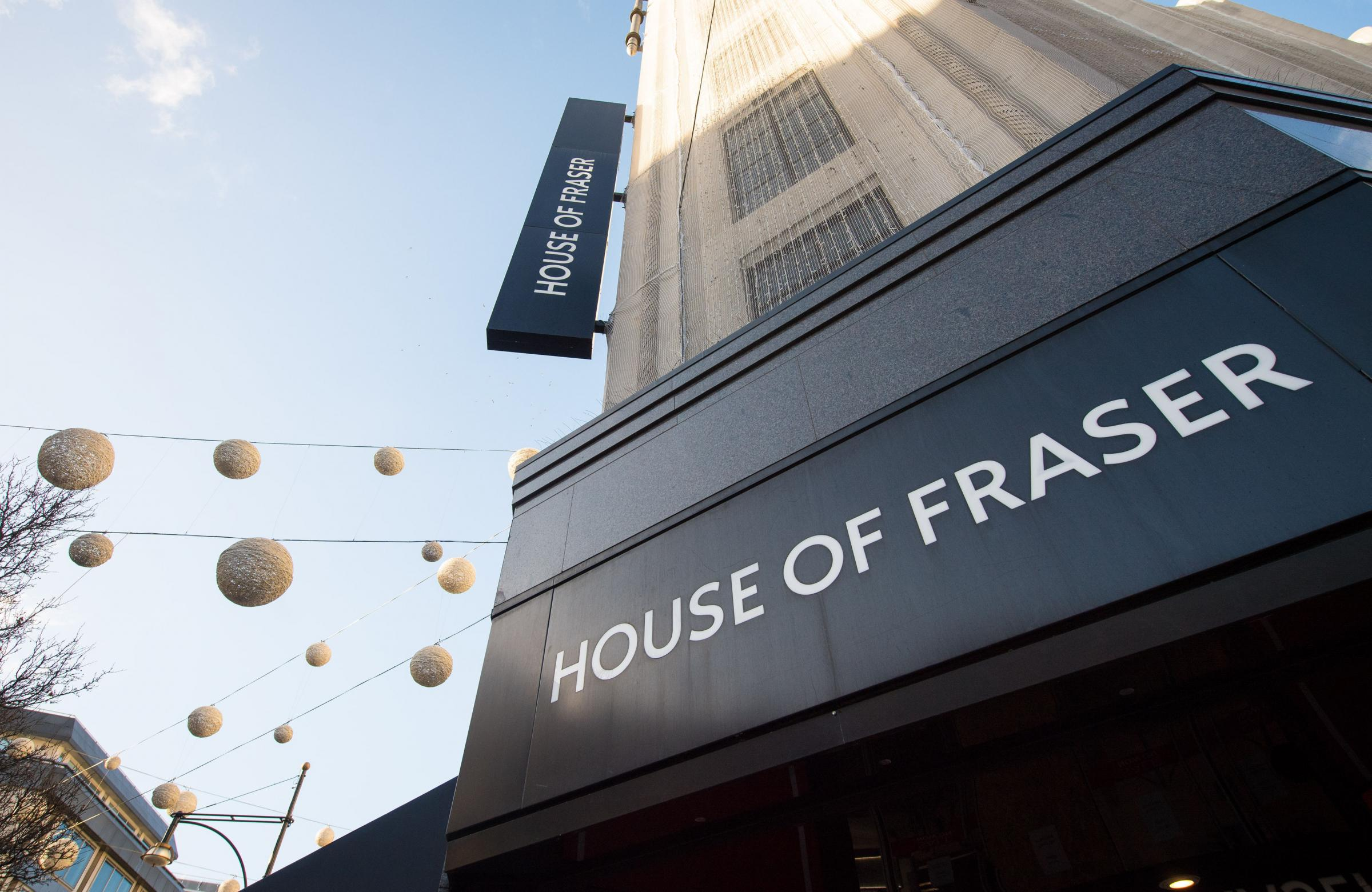 House of Fraser (Dominic Lipinski/PA Wire)