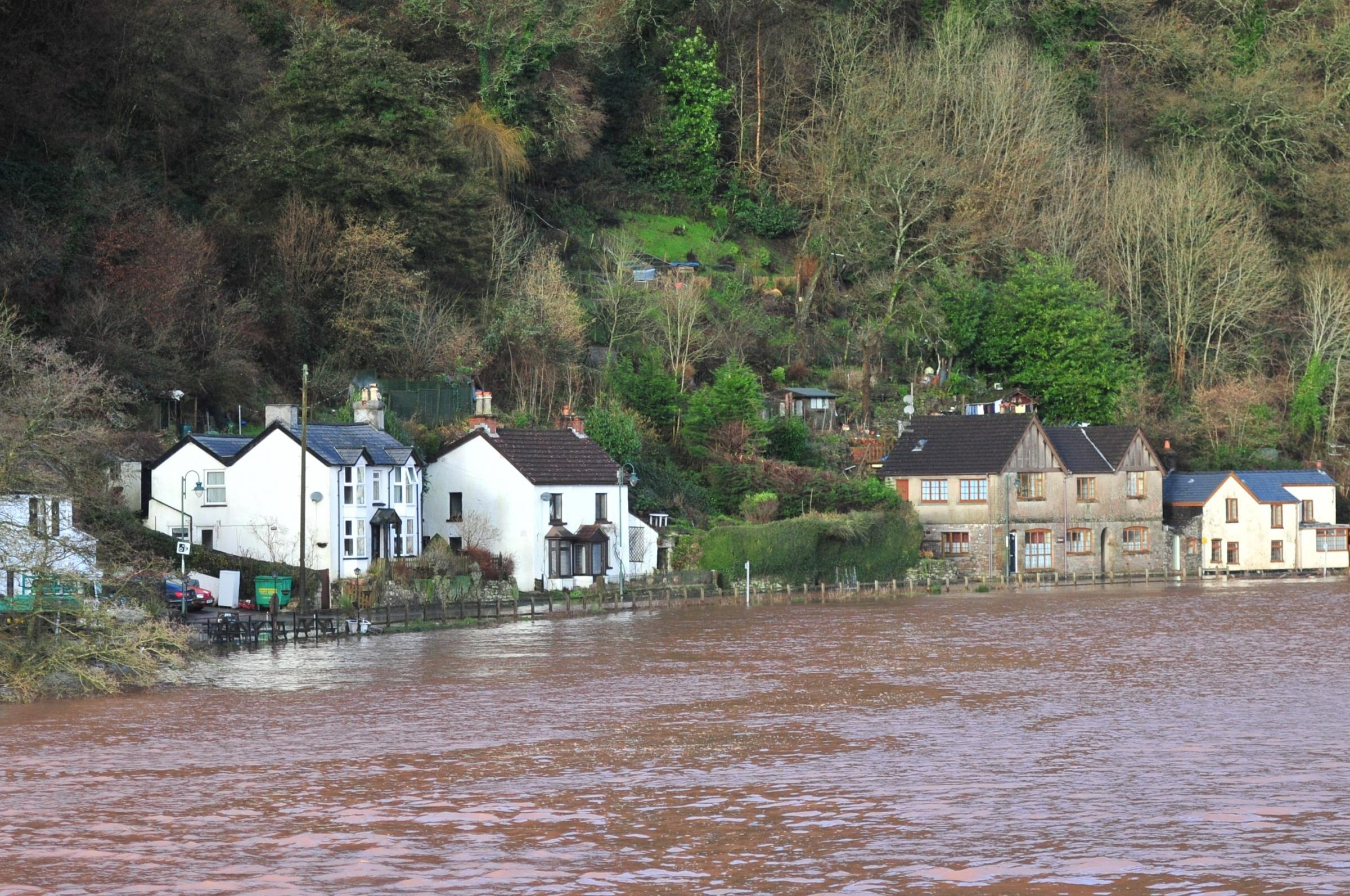 Picture of the Day - The village of Tintern flooded by tidal water from the Wye on Saturday February 1st 2014.