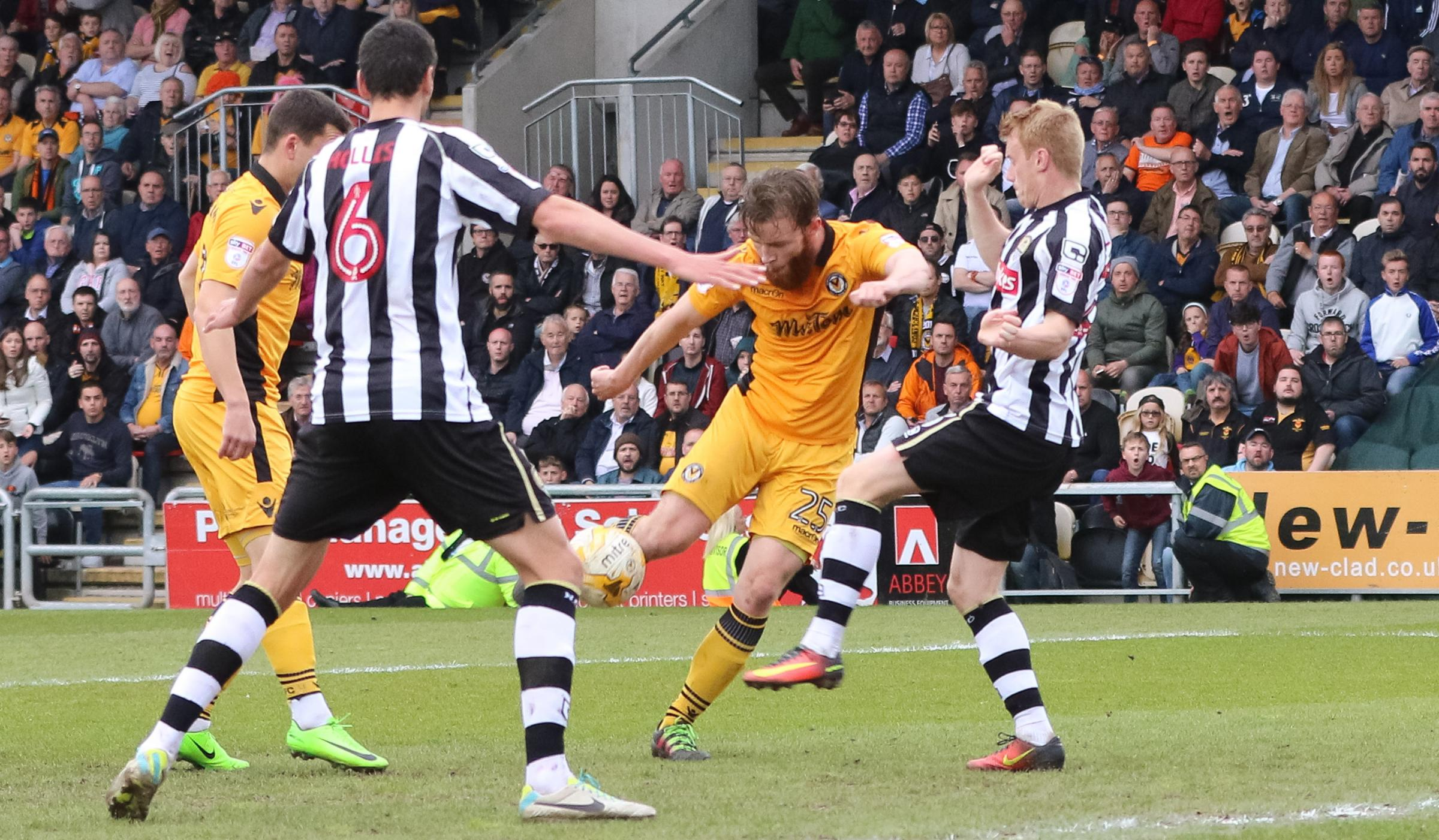 FLASHBACK: Mark O'Brien saved Newport County from relegation with this goal against Notts County in May 2017