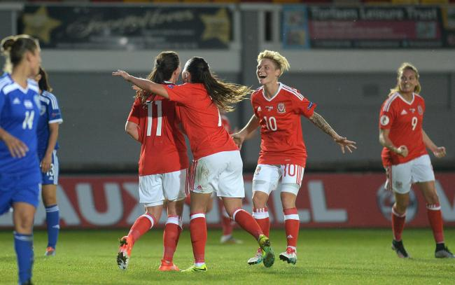 SUCCESS: Wales beat Israel in a European Women's Championship qualifier at Rodney Parade in September 2016