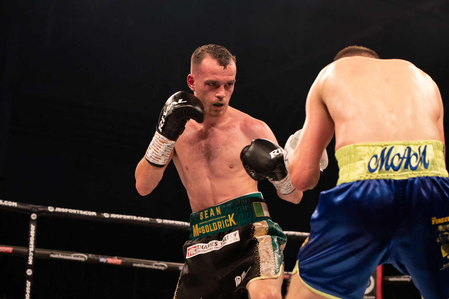 NEW CHALLENGE: Sean McGoldrick, left, beat Dylan McDonagh in his last fight. Picture: www.liamhartery.com