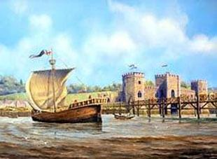 MEDIEVAL MARVEL: Artist Paul Deacon's impression of Newport's medieval ship