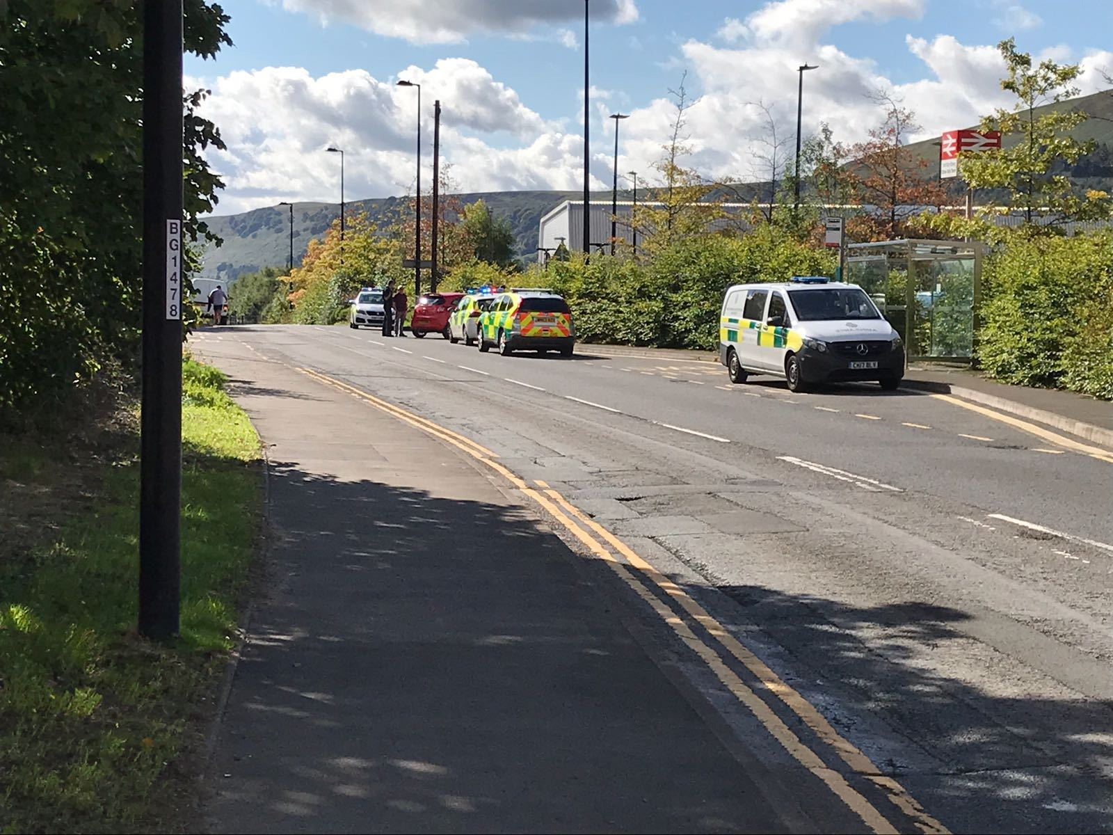 Emergency services are at the scene in Ebbw Vale