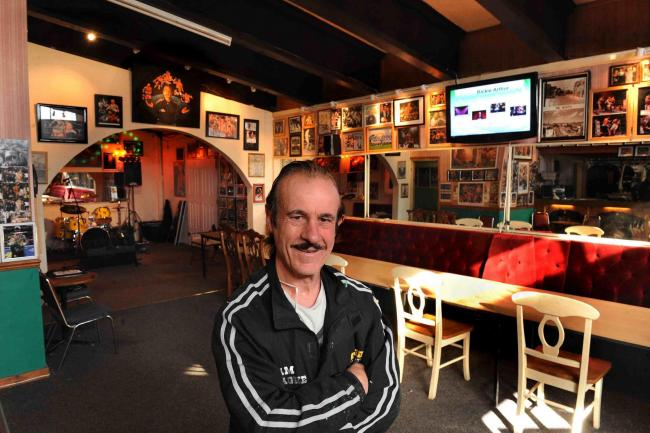 PROUD: Enzo Calzaghe at his beloved Newbridge gym