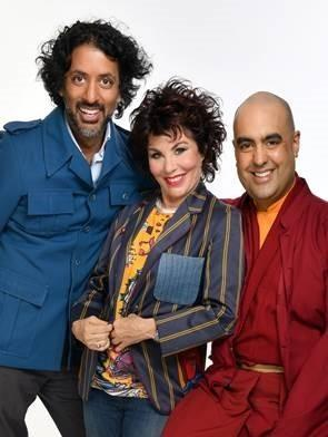 PERFORMING: Neuroscientist Ash Ranpura, comedian Ruby Wax and monk Gelong Thubten