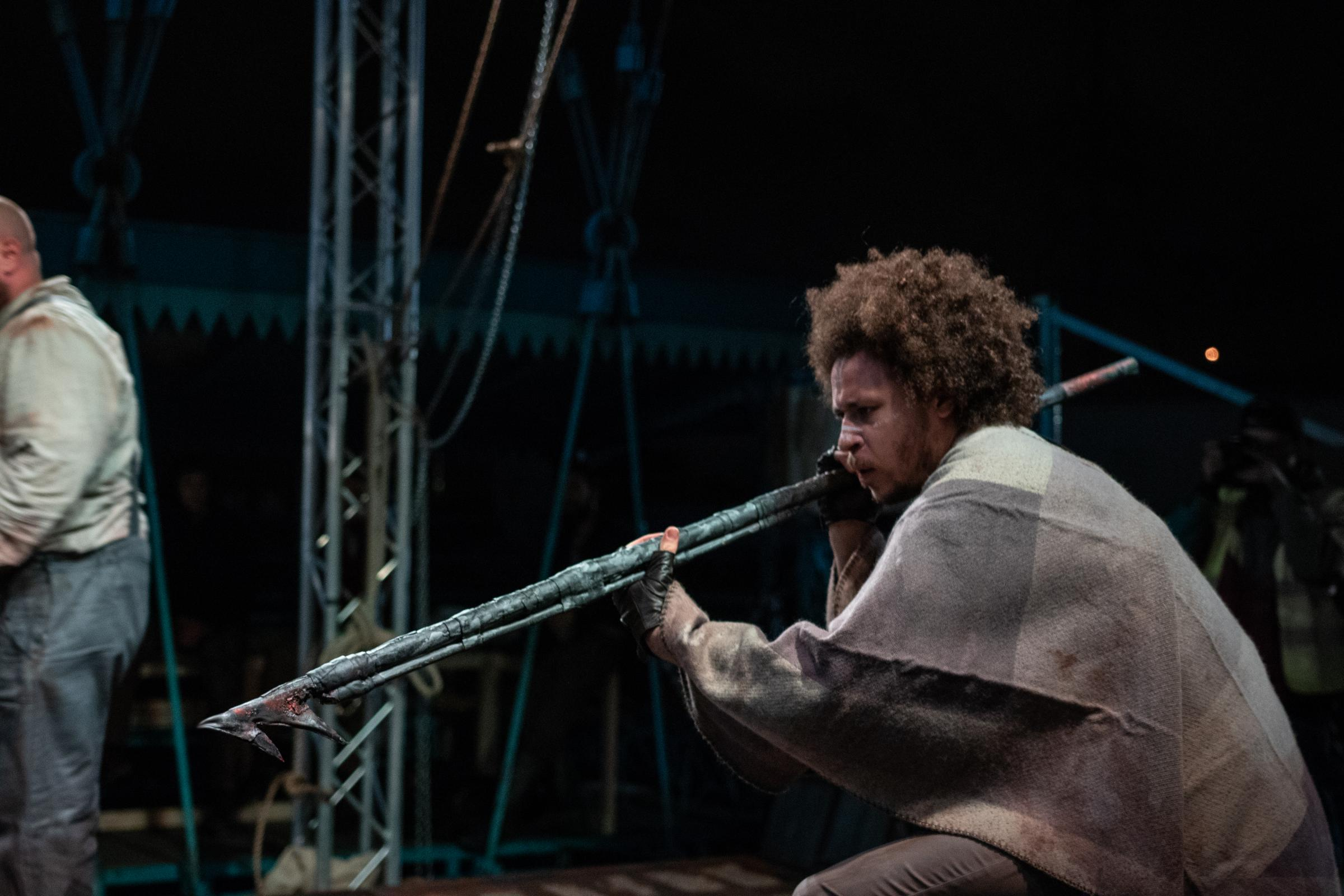 Moby Dick by Tin Shed Theatre being performed on Newport Transporter Bridge Picture: Fez Miah