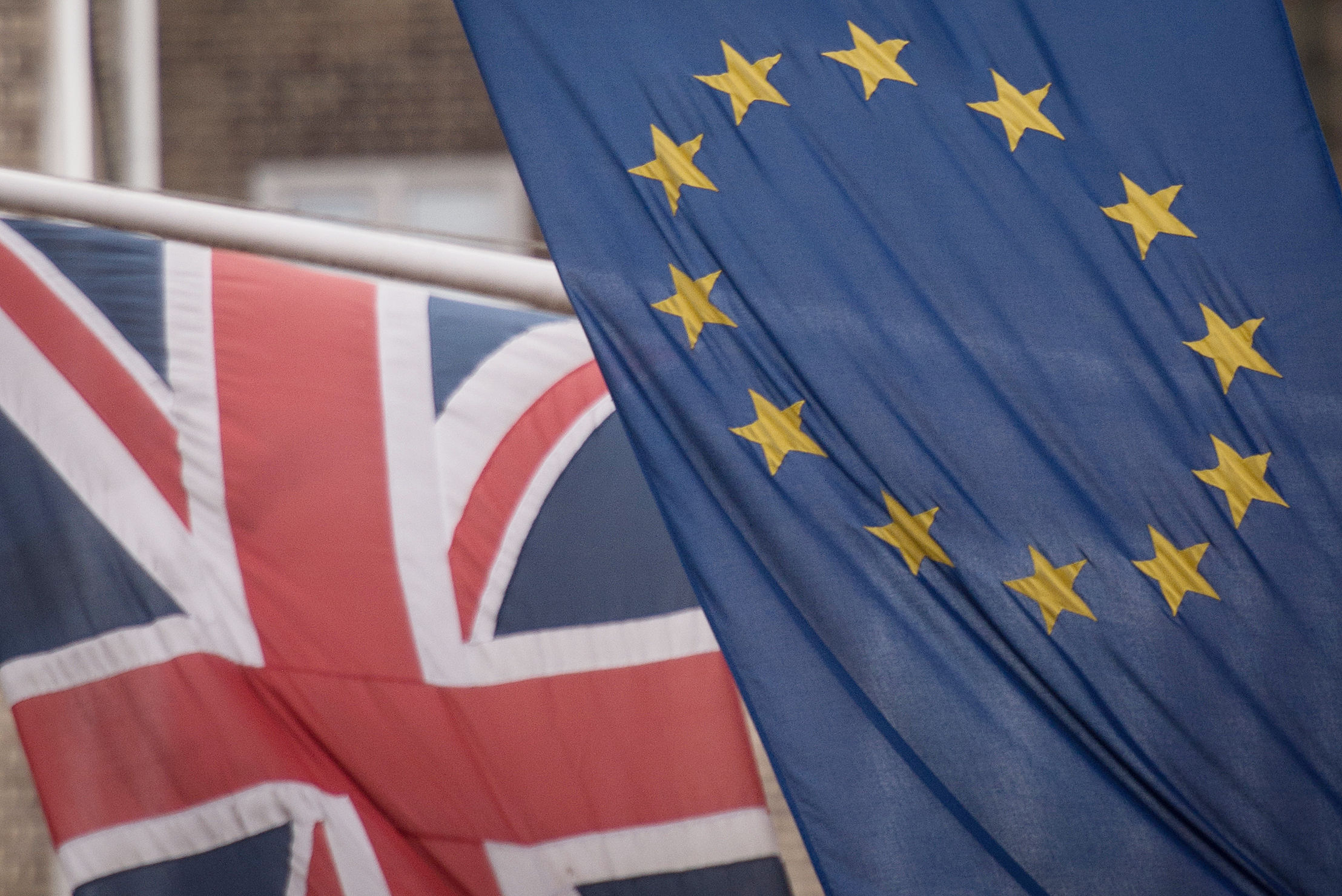 File photo dated 17/2/2016 of the EU and Union flags. Downing Street is braced for another week of Brexit battles as it faces flashpoints with both Brussels and hardline Tory MPs. PRESS ASSOCIATION Photo. Issue date: Monday October 8, 2018. Despite key EU