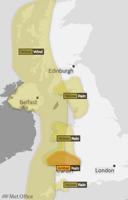 MET OFFICE: The weather warning has been upgraded