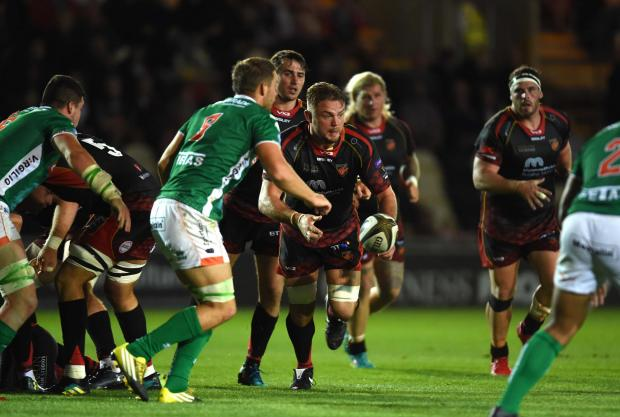 South Wales Argus: DRAGONS GREAT: Lewis Evans