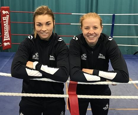 BIG CHANCE: Pontypool ABC's Lauren Price, left, and Rosie Eccles will be fighting for places at the Tokyo Olympics