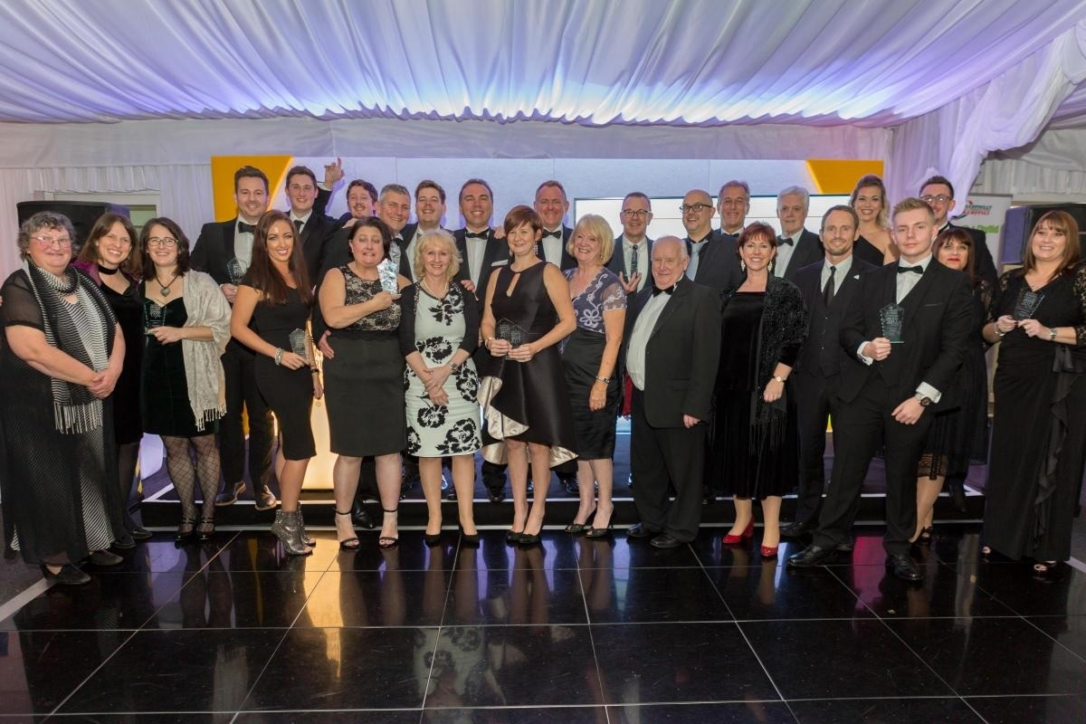 Winners from the 2017 Caerphilly Business Forum Awards