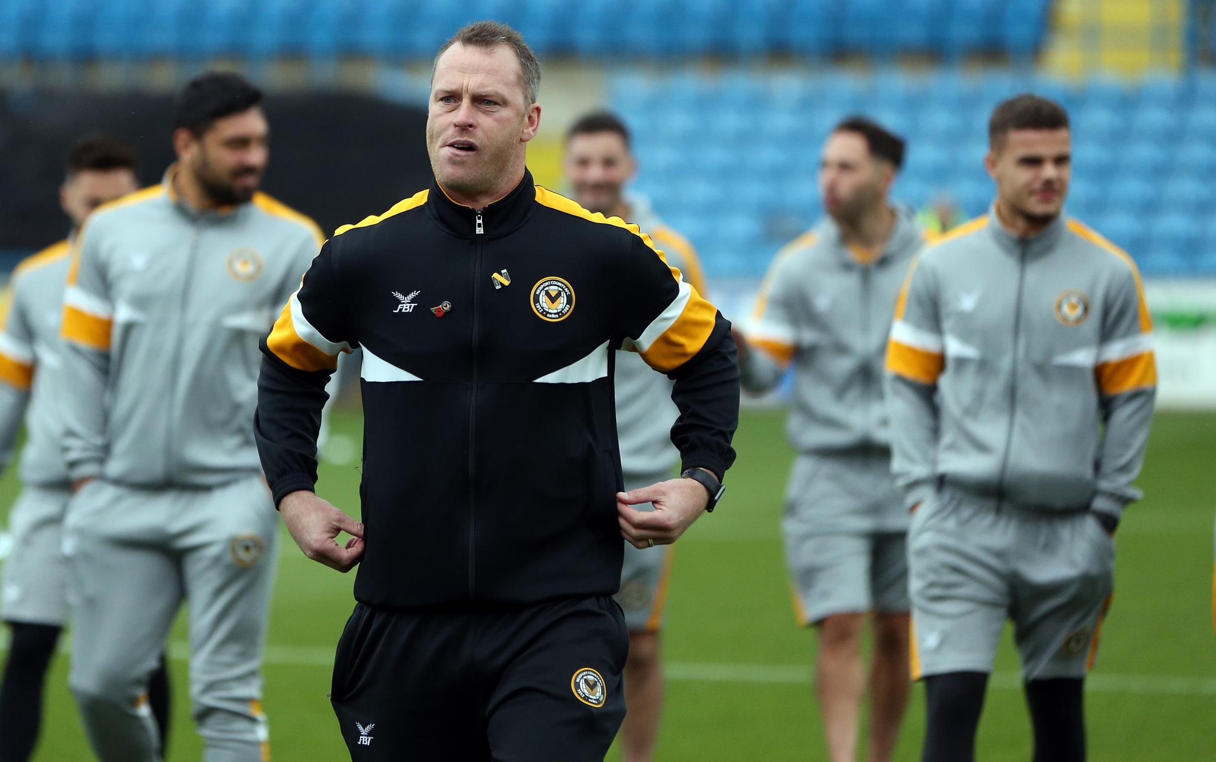 DECISIONS: Newport County manager Michael Flynn has plenty of options for today's trip to Swindon Town