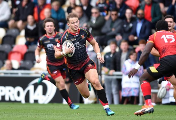 South Wales Argus: STAR MAN: Hallam Amos is leaving the Dragons