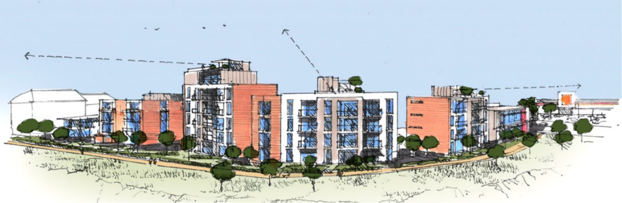 An artist's impression of what the development could look like. Pic: Lynwood Investments/LRM Planning Ltd