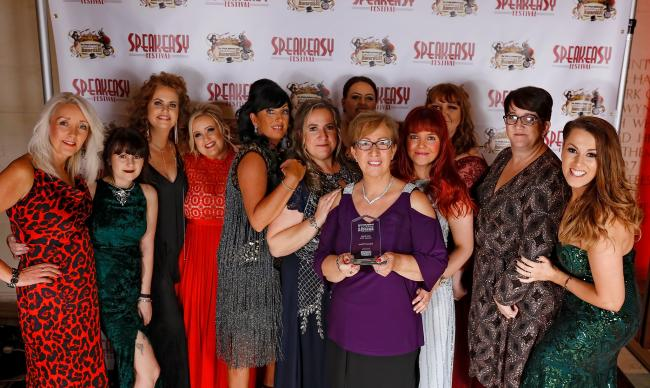 Gwent-based All About Eve celebrating their awards win