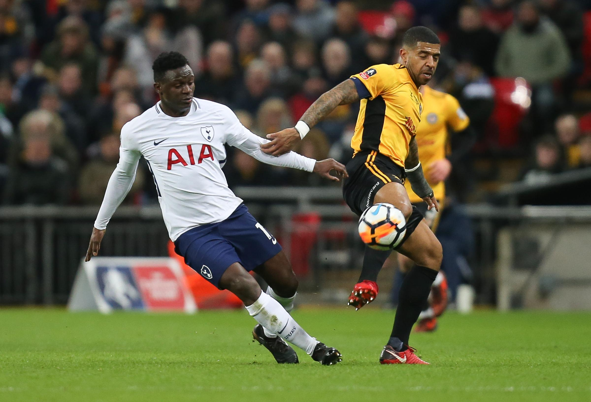 TALENT: Newport County's Joss Labadie went toe to toe with Tottenham Hotspur's Victor Wanyama in Last season's FA Cup fourth-round tie