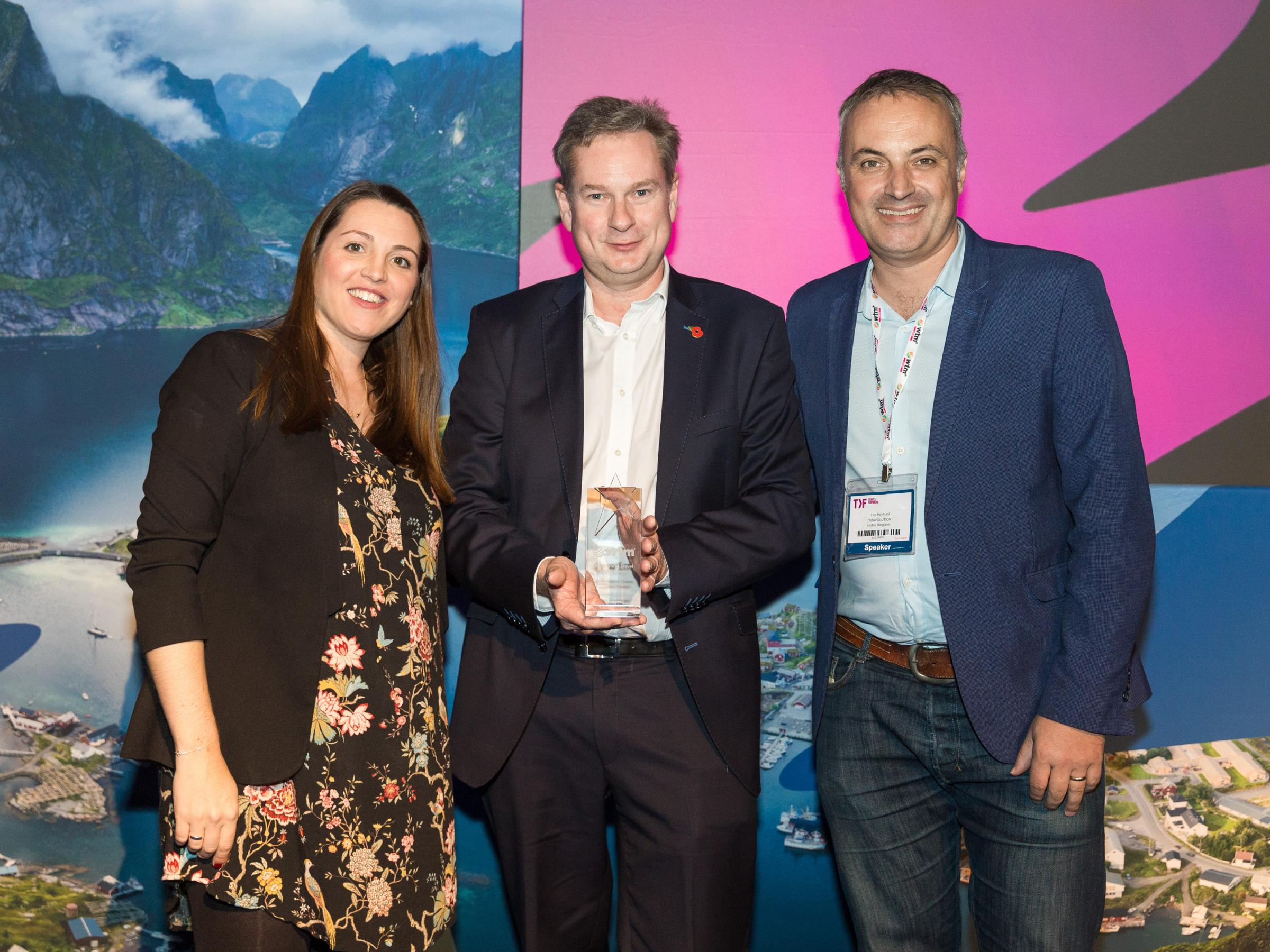World Travel Market 2018, ExCeL London - World Travel Leaders Awards, Charlotte Alderslade, WTM Portfolio, Simon Powell, founder of Comtec and chief executive of Inspiretec 